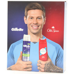 "Набор подарочный ""GILLETTE + OLD SPICE"" пена для бритья 250 мл. + гель для душа  250 мл. 1 шт.(6)"