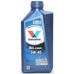 "Масло моторное ""VALVOLINE ALL CLIMATE"" SAE 5W-40 синтетическое 1 л.(12)"