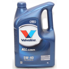 "Масло моторное ""VALVOLINE ALL CLIMATE"" SAE 5W-40 синтетическое 5 л.(4)"