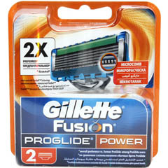 "Кассета ""GILLETTE FUSION PROGLIDE POWER"" 2 шт.(20)"